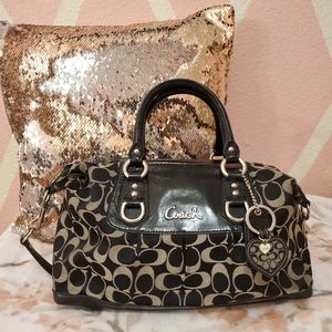 Coach 🐎 Ashley Signature Sateen Satchel